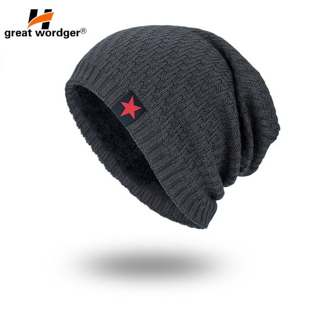 6cecf391fecbce Winter Windproof Hiking Caps Thermal Fleece Knitted hat Men and Women Ski Bike  Motorcycle Caps Cycling Warmer wool Helmet