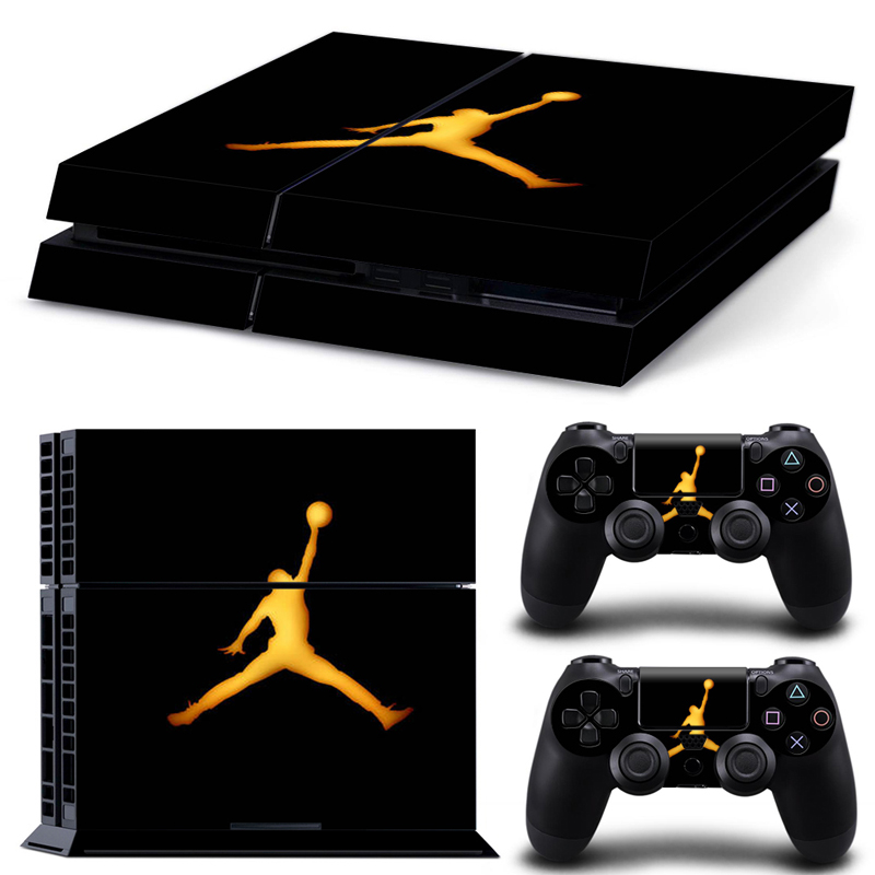 OSTSTICKER Cartoon Basketball Kid PVC Decals Stickers For PS 4 Console Vinyl For Playstation 4 Controller