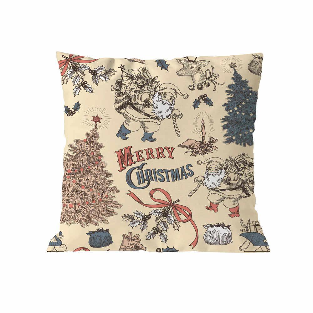 وسادة غطاء 2020 جديد ماركة كيس وسادة Housse دي koosin أريكة الطباعة هندسية الشمال عيد الميلاد غطاء الوسادة Cojines