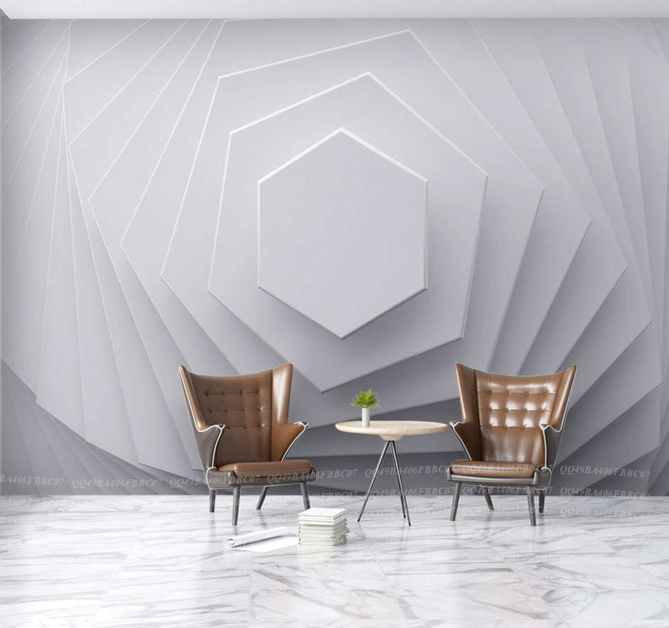 New Abstract Hexagon Geometry Wallpaper Murals 3d Wall Photo Mural for Living Room Sofa Background 3d Geometry Wall paper Murals custom photo wallpaper 3d wall murals balloon shell seagull wallpapers landscape murals wall paper for living room 3d wall mural