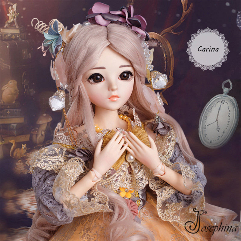 S6--Carina 1/3 Josephina-Doris SD BJD Dolls New Arrival Retro Court Lady Dressed BJD Doll Imported Resin Body Best Girl Gift