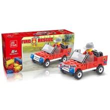 City Construction Military Police Fire Car Transformation Building Blocks Bricks For Children Toys