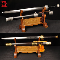 Cold Steel Chinese War Sword Folded Steel 8Sides Kungfu Martial Art Metal Craft