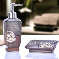Set de baño de lavado Europeo creativo botella de líquido de lavado de manos jabón caja de dos piezas de baño accesorios
