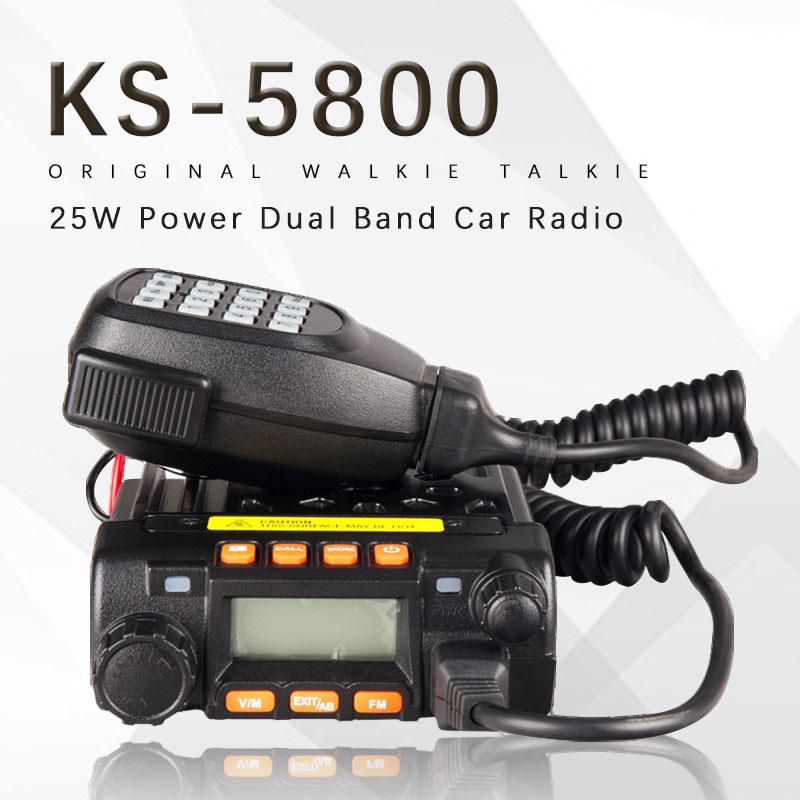 Mini-bilradio KSUN KS-5800 tvåvägsradio 136-174 / 400-480MHz dubbelband mobil transcever walkie talkie