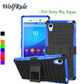 For Sony Xperia M4 Aqua Case Anti-knock Silicone + Plastic Cover For Sony Xperia M4 Aqua Dual E2333 Phone Holder For Sony M4 #<