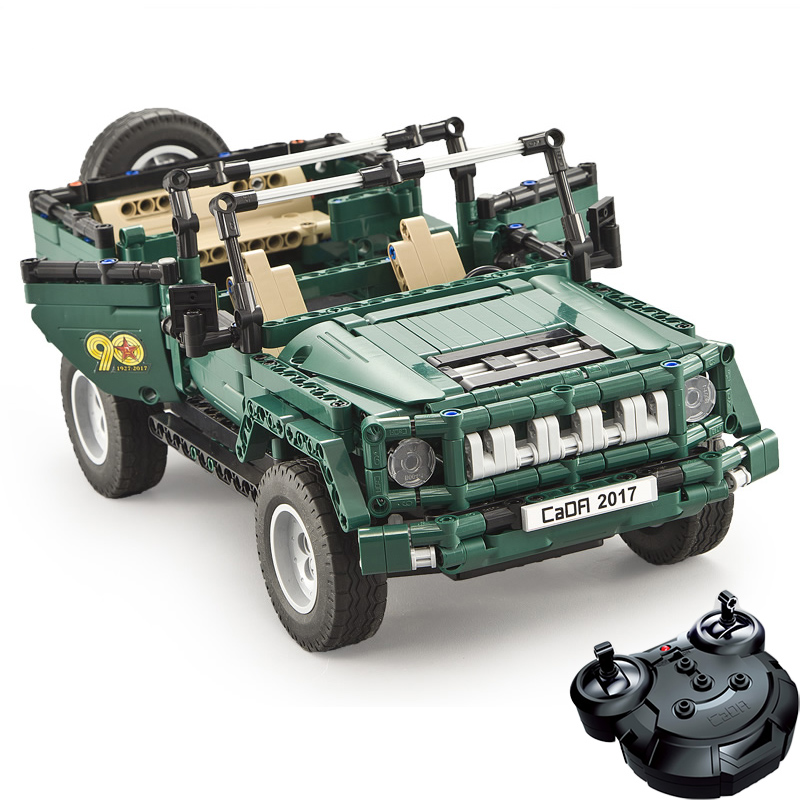 561pcs RC Parade Truck Car With Remote Control Motor Compatible Technic Military Building Blocks Bricks Toys