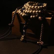8MM Bodhi Seeds Tibetan Mala Buddhist 108 Prayer Beads Mala Blessed Mala Copper Counters Bracelet Necklace la mala hierba
