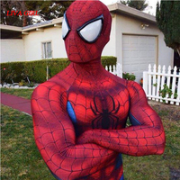 S 2XL Spiderman Costume 3D Shade Spandex Fullbody Halloween Cosplay Spider Man Superhero Costume For Adult