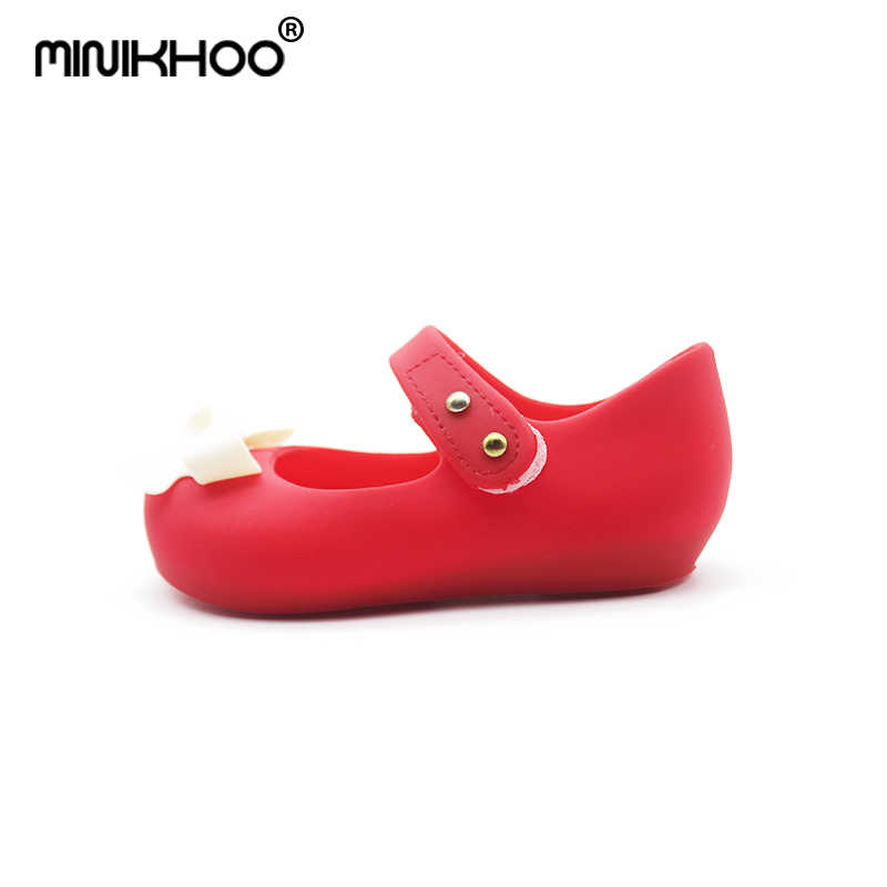 55dfbe166ea7 ... Mini Melissa 2018 Bow Children Shoes Jelly Shoes Soft Girls Sandals  Bottom Girls Princess Shoes Girls ...