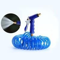 Car High Pressure Power Water Gun Washer Nozzle Scouring Artifact Retractable Soft Water Pipe Set Watering Spray Sprinkler