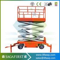 towable electric hydraulic scissor lift/trailing sissor lifts/Mobile elevating platform electric scissor lift