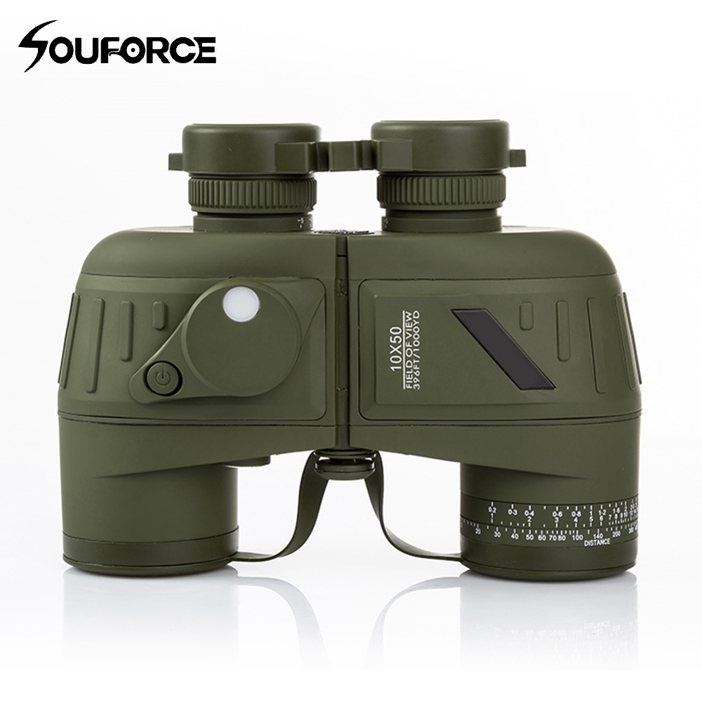Waterproof Navy Telescope Fogproof HD Binoculars with rangefinder Compass Reticle Illuminant Night Vision Hunting стоимость