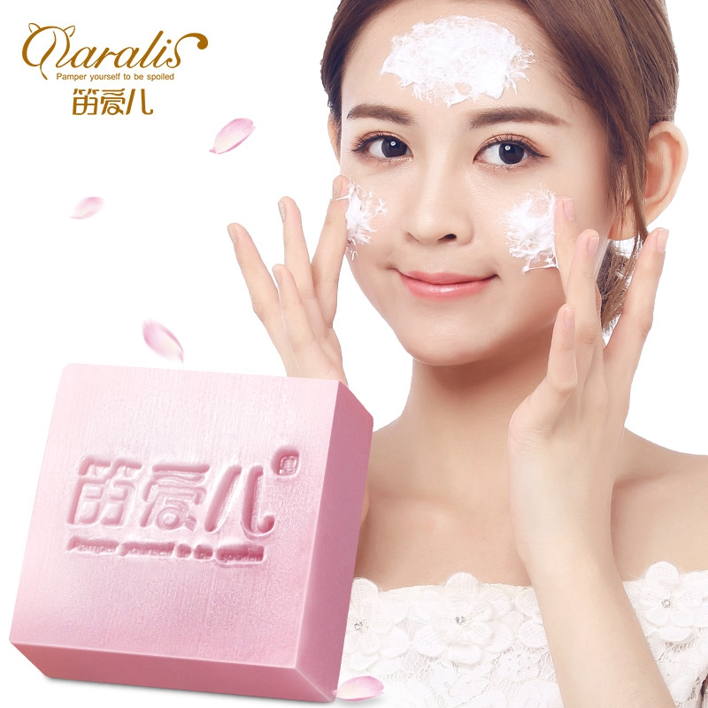 Daralis 120G Rose Extract Handmade Soap Acne Treatment Remove Whelk Shrink Pore Face Care Whitening Beauty Natural Bath Soap