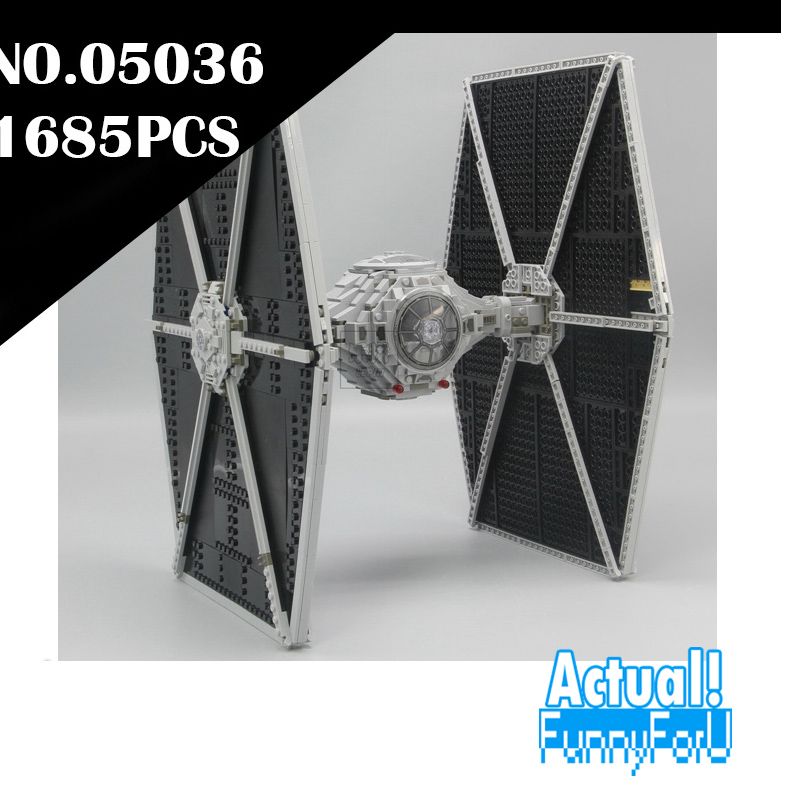 NEW 1685pcs Star 05036 Series Wars Tie Fighter Building Educational Blocks Bricks Toys Compatible 75095 Gifts lepin lepin tie fighter 05036 1685pcs star series wars building bricks educational blocks toys for children gift compatible with 75095