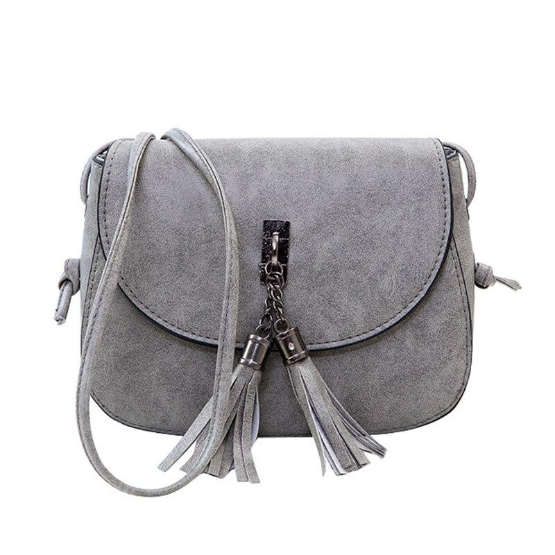 Women Mini Messenger Bags Cute Simple Ladies Clutch Leather Female Gilrs Small Tassel Crossbody Shoulder Bag Sac A Main D045