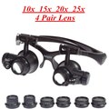 10X 15X 20X 25X LED Eye Jeweler Watch Repair Magnifier Magnifying Glasses glass New Loupe ,ABS