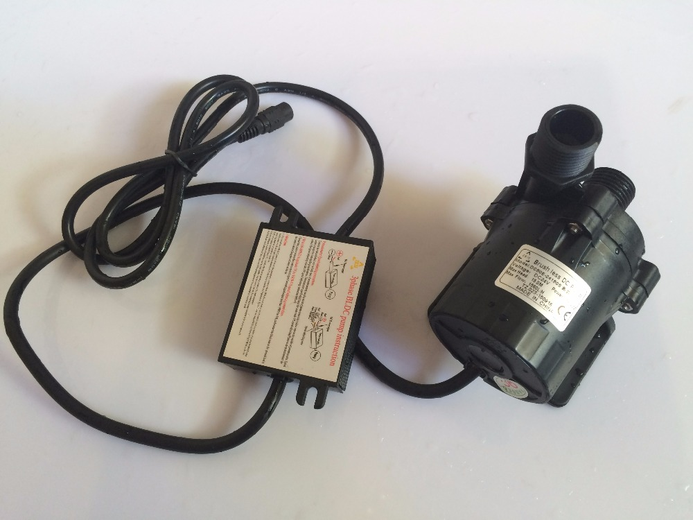 10pcs 3phase 24V Micro Brushless DC Submersible Pump Max Head 15m High temp 100C For car cooling garden pumping