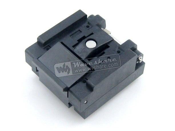 все цены на Modules QFN48 MLP48 MLF48 QFN-48(52)BT-0.4-01 Enplas QFN 6x6 mm 0.4Pitch IC Test Burn-In Socket with Ground Pin онлайн