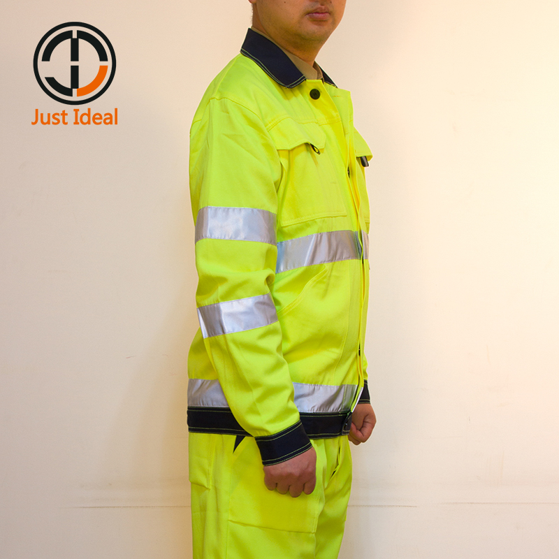 Coats & Jackets Mens Hi Viz High Visibility Bomber Safety Work Black Hooded Jacket Coat All Size Facility Maintenance & Safety