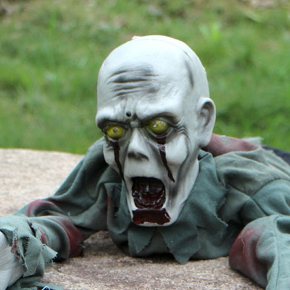 Halloween Decorations Scary Bald Crawling Ghosts Electric