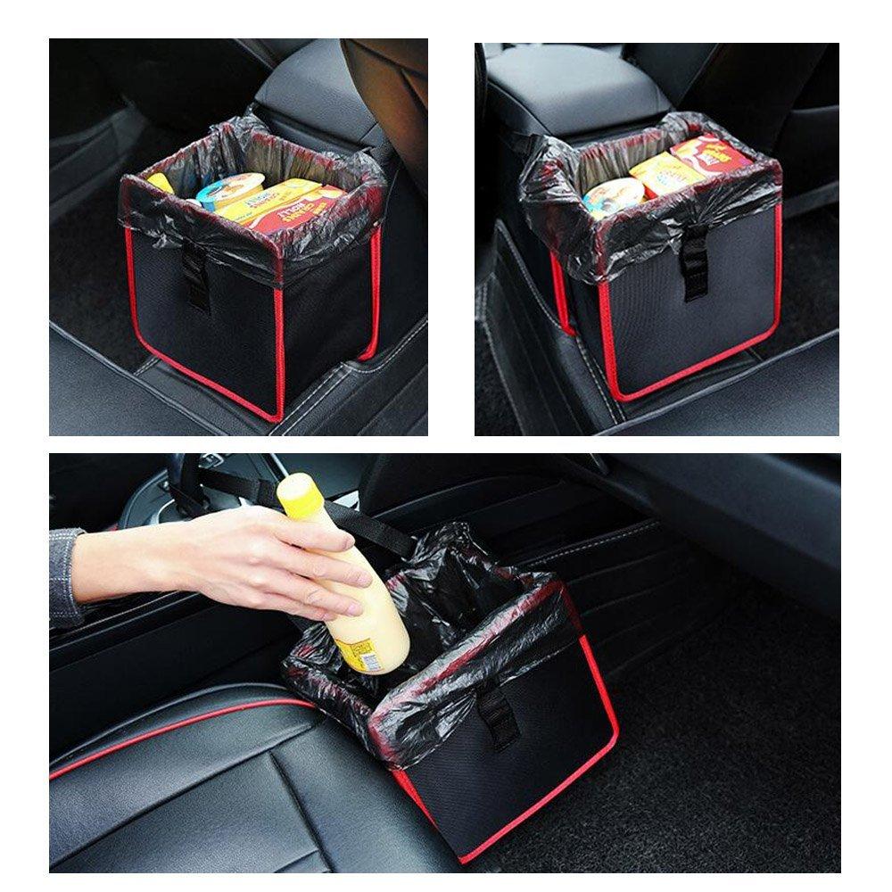 Universal Car Basket Trash Bag Garbage Leak Proof Bin Wastebasket Container Box