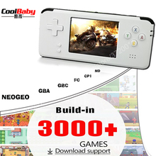 10pcs New upgrade Portable Video Handheld Game Console Retro game 64 Bit 3 Inch 3000 Video Game Retro Handheld Console for TV