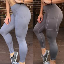 цены на Autumn Women Sweatpants Elastic High Wiast Leggings Running Tights with Pocket Jogger Fitness Gym Athletic Track Pant Sportswear в интернет-магазинах