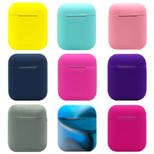 Multi-color Silicone Skin For Airpods Case Apple Airpods Anti-drop Anti-dust Proof Protector Cover Anti-Lost Earphone Accessory(China)