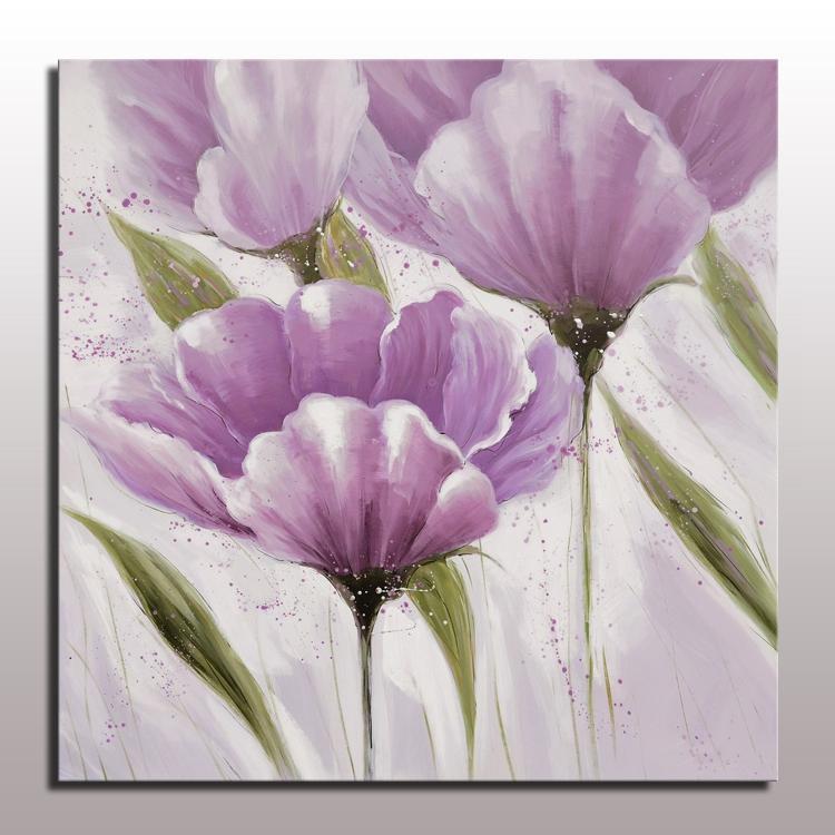 Beautiful modern simple abstract purple flower oil painting wall beautiful modern simple abstract purple flower oil painting wall hanging art for living room decor handmade flower canvas art mightylinksfo