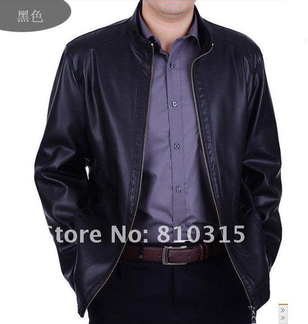 Free shipping 2016 Brand men's clothing Add flocking thickening leisure stand collar sheep leather jackets coat