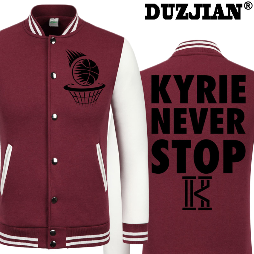 2016 Spring new Cavaliers Kyrie Irving casual jacket cheap men winter jackets male coat boys jacket hip hop youth jackets