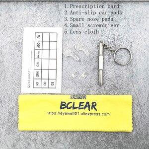 Image 5 - BCLEARR Montura de gafas de titanio para hombre, gafas de negocios ópticas, sin montura, con bisagras de resorte, 5 colores opcionales, oferta