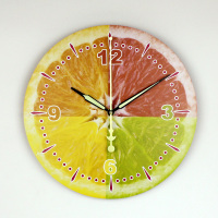 Modern Lemon Wall Clock Wall Decoration Clock Kitchen Wall Clocks Guess Decorative Clock Fruit Section Orange Seahawks 3DBGV55