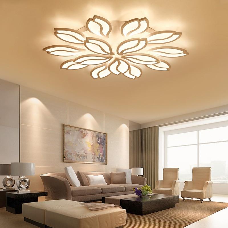 Best Kelvin For Living Room: Best Buy Art Design Petal LED Ceiling Lamp Living Room