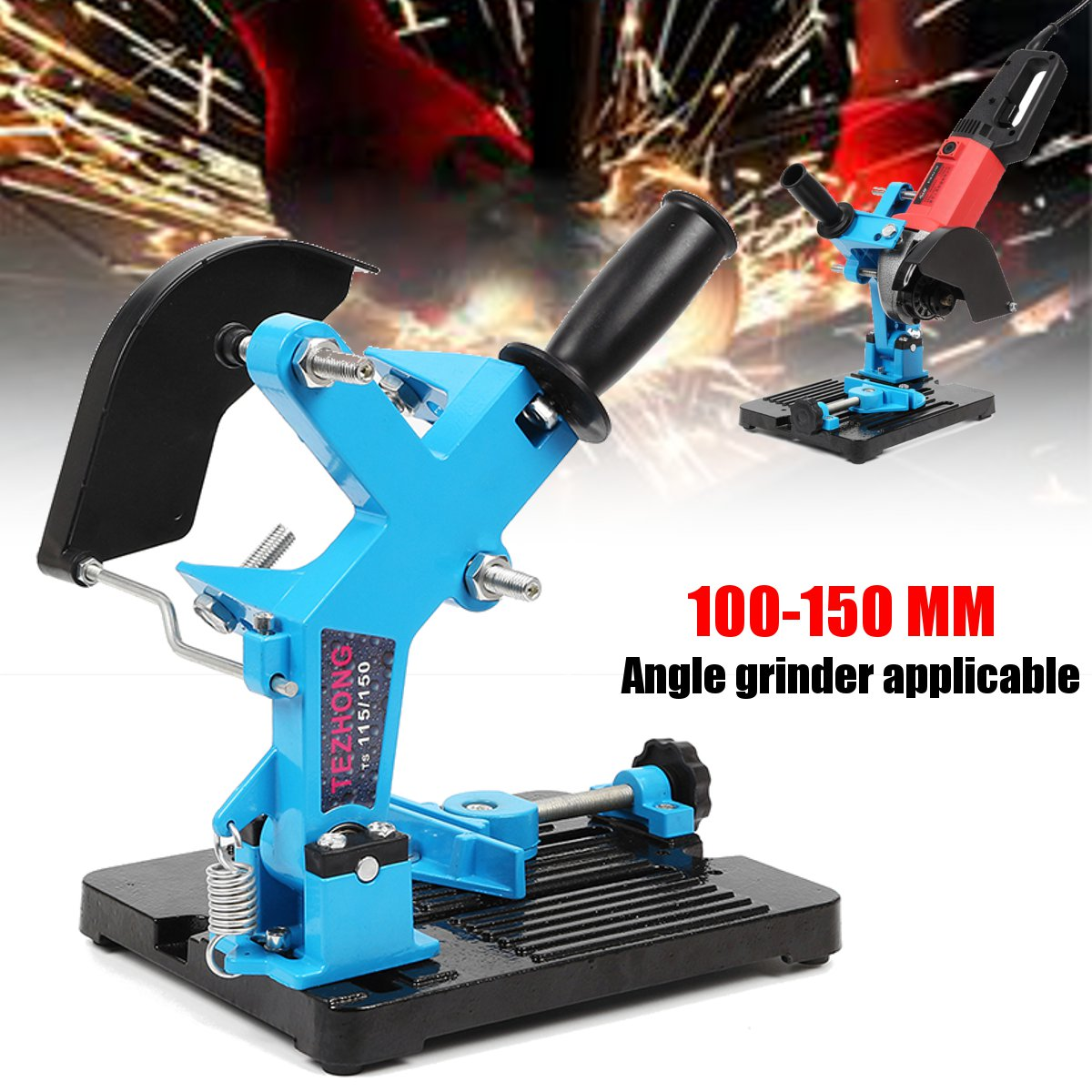 Angle Grinder Stand Double Bearing Bracket for 115-150 Angle Cutter Support Bracket Holder Dock Cast Iron Base Holder 125 angle grinding frame angle grinder holder stand bracket support angle grinder conversion cutter accessories for 115 to 125mm