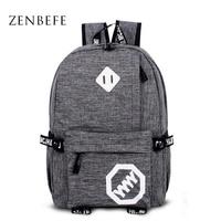 ZENBEFE New Arrival Backpack Fashion Unisex Travel Backpack Cool School Bag For Teenager Women Bag Leisure