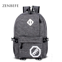 Купить с кэшбэком ZENBEFE New Arrival Backpack Fashion Unisex Travel Backpack Cool School Bag For Teenager Women Bag Leisure Mochila Feminina Bags