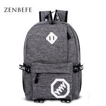 ZENBEFE Neue Ankunft Rucksack Mode Unisex Reiserucksack Coole Schultasche Für Teenager Frauen Tasche Freizeit Mochila Feminina Taschen