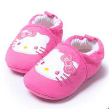 The spring and autumn period and the babyshoes baby toddler soft bottom shoes baby shoes cotton powder Kitty cat out