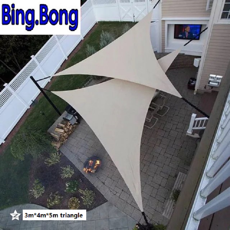 USA Free Outdoor Sun Shade Sail Garden Netting 3*4*5m HDPE Anti