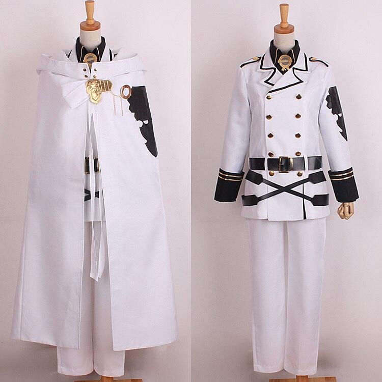Seraph konec Mikaela Hyakuya Uniform Cosplay kostýmy