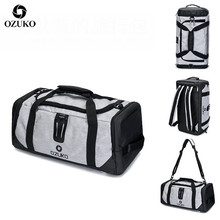 OZUKO Men Travel Duffle Bag  Multifunctional High Capacity Waterproof Oxford Luggage Handbags Carry On Weekend Bags for Trip