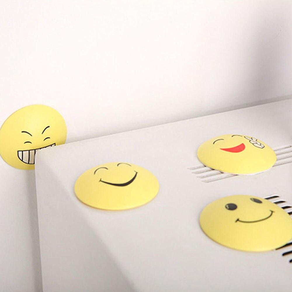 Wall Stickers 3D Rubber Door Handle Knob Emoji Crash Pad Wall Protector Self Adhesive Bumper Stickers