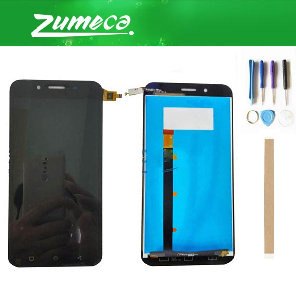 High Quality For Micromax Q391 Canvas Doodle 4 LCD Display Screen+Touch Screen Digitizer Assembly Black Color With Tape&Tool