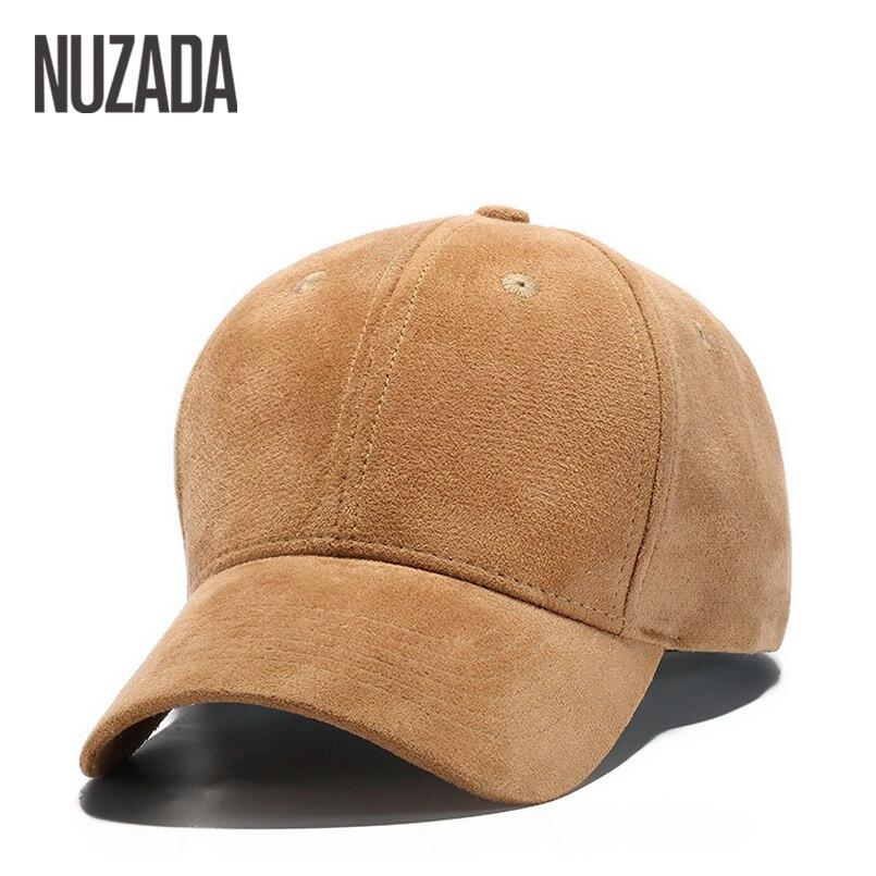 Brand NUZADA Winter Autumn Thickening Suede Fabric Men Women   Baseball     Caps   High Grade Cotton Hip Hop   Cap   Hats Bone Snapback