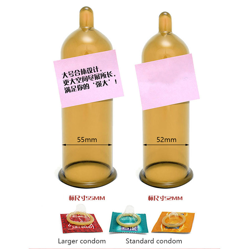 10pcs Large Size Condoms For Big Penis True Man Plus Size 55mm Condones  Ultra Safe Penis Sleeve Natural Latex Contraception Tool-in Condoms from  Beauty ...