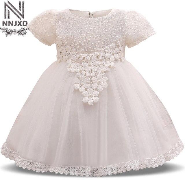 Kleine Prinzessin Mädchen Taufe Kleid Baby Mädchen Ersten Geburtstag ...