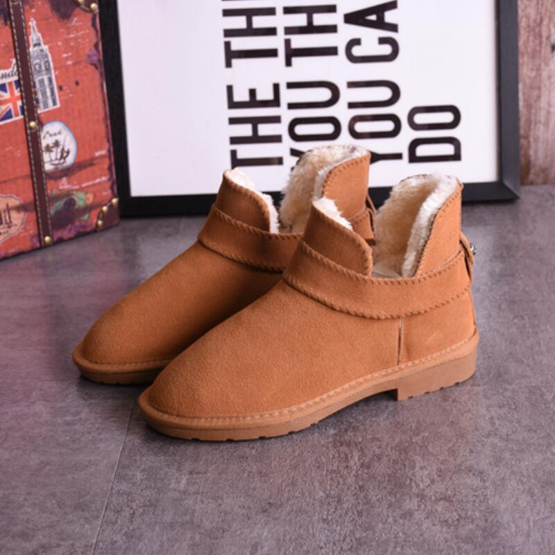 Famous Brand Australia Classic Women Snow Boots Long Section Leather Winter font b Shoes b font