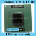 Lifetime warranty Pentium 4-M 2.4 GHz Notebook processors Laptop CPU 400MHz Computer Original authentic